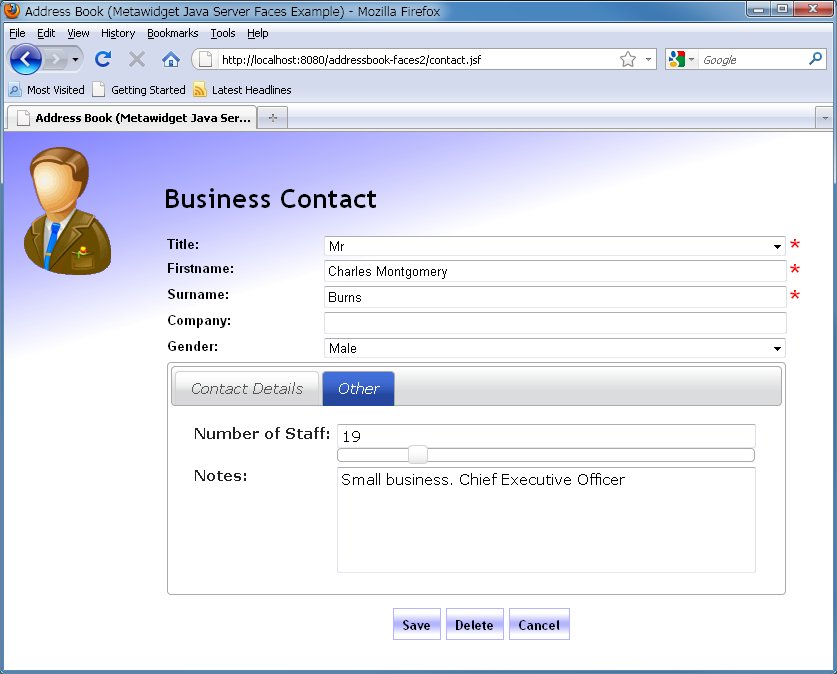 Web Address Book Using PrimeFaces